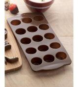 Silicone Oval Chocolate Mould with Non-Stick 12-Cavity Baking