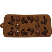 Chocolate Mould - Easter Duck, Bunny and Eggs