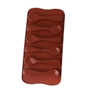 Welim Chocolate Mould Silicone Mould Cake Mould Fondant Moulds Baking Moulds Spoon Mould Suitable for home or bakery 6 lattice Brown