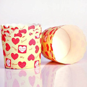 Inovey 20PCS High Temperature Resistant Middle Heart Paper Cake Cups