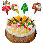 Inovey 100Pcs Christmas Cupcake Topper Cake Wrappers Decoration Accessories Backing Decoration