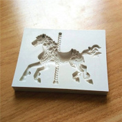 Inovey Pony Horse Shape Silicone Cake Mould Fondant Sugar Jelly Ice Lace Lollipop Mould Kitchen Accessories