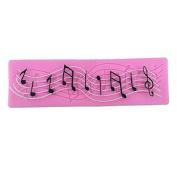 Inovey Music Silicone Mat Musical Notes Cake Mould Lace Wedding Fondant Cake Border Decorating Tool