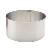 CHIC*MALL Small Stainless Steel Round Adjustable Mousse Ring with Scale Cake Baking Mould