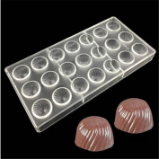 VAK Spiral shape 21 cells Chocolate Moulds, Baking Chocolate Moulds, ice Pie Cake Pan Pastry Dessert Baking Tray, Bakeware Pan Pie Candy Chocolate Decoration Tools Baking Supplies - 14.5x28x2.5cm