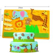 Silicone Animal Shape Cake Moulds Elephant Giraffe Lion Fondant Chocolate Mould Baking DIY Tools