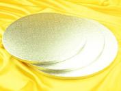 Dough Scraper 12111 Round Cardboard Cake Stand Silver 43 x 43 x 1 cm