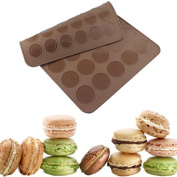 QuiCi Silicone Macaroon Pastry Oven Baking Mould Sheet Mat DIY Mould Tool 30-cavity