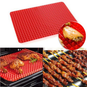 QuiCi Baking Mats BBQ Silicone Mat Oven Baking Grill Oil Filter Pad Cooking Sheet Mat