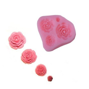 COFCO 4 in 1 Silicone Icing Mould Mould Flower Rose Sugar Paste Sugarpaste Cake Decorating Party Wedding