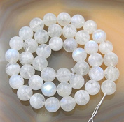 "Top Quality Natural Moonstone Gemstone 8mm Round Loose Beads 15.5"" (1 strand) #GY30-8"