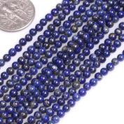 GEM-inside Natural 3mm Round Smooth Lapis Lazuli Gemstone Beads For Jewellery Making Strand 15""