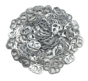 Hyamass 200pcs Aluminium Smooth Edges Soda Beer Pop Can Tabs for Jewellery, Chainmail