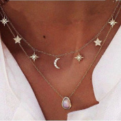 TraveT Multi-layer Star Gem Chain Necklace Fashion Jewellery For Women