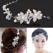 TraveT Wedding Korean Bride Headdress, Soft Chain Marriage Hair Ornaments