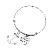 TraveT Anchor Compass Pendant Alloy Pendant Combination Bracelet Fashion Jewellery