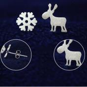 TraveT Little Deer Snowflake Earrings Fashion Jewellery For Women