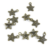 Price per 980 Pieces Jewellery Making Supply Charms Findings Filigrees V6XB5C Starfish Sea Star Antique Bronze Findings Beading Craft Supplies Bulk Lots