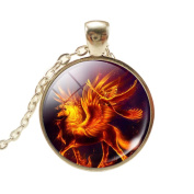 VWH Women Girls Unicorn Pendant Necklace Jewellery Gift, Orange