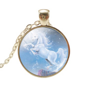 VWH Women Girls Unicorn Pendant Necklace Jewellery Gift