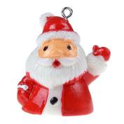 Ioffersuper 1 Pcs 3D Christmas Charm Pendant Resin Pendant Beads,Father Christmas