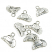 90 Pieces Antique Silver Tone Jewellery Making Charms Supply ZY1577 Cowboy Hats