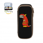 Fymanlu Funny Sloth Shirt Big Capacity Pencil Case Bag Portable Stylish Nylon Pen Cases
