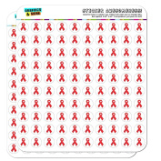 Red Awareness Ribbon Drug Free HIV AIDS 1.3cm (1.3cm ) Planner Calendar Scrapbooking Crafting Opaque Stickers