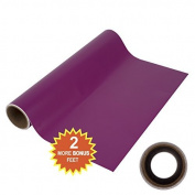 WEEDS EASILY ROYAL PURPLE MATTE ADHESIVE VINYL 30cm X 2.4m ROLL of Non-Stretchy, Made in USA for Cricut, Silhouette Cameo, Oracal Vinyl Cutters, Printers, Letters, Decals, Signs by Angel Crafts