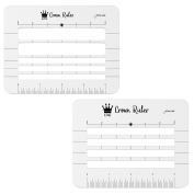 Jot & Mark Crown Ruler Envelope Stencil - Includes 2 Templates - Fits All Sizes - Perfect for Hand Addressed Envelopes, Invitations, and Place Cards