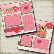 SMOOCHABLE - Premade Scrapbook Pages - EZ Layout 42