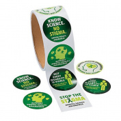 1 Roll ~ Mental Health Awareness Stickers ~ 100 Round Paper 3.8cm Stickers Total ~ New