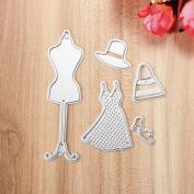 CoCocina Dress Up Hanger Metal Cutting Dies Stencil Scrapbook Card Album Paper Embossing