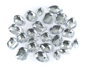 ALL in ONE Mixed Shape Sew on Acrylic Diamante Rhinestone Crystal Gemstone with Hole