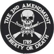 "USA 2nd Amendment ""Liberty or Death"" 1789 Iron On 7.6cm Patch"