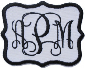 Custom Embroidered Vine Font Name Initial Monogram Iron On Applique Patch