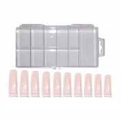 NB24 Shipping French Tips Rose Tip Box of 100), Size