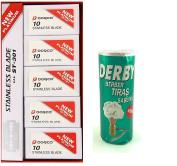 Dorco Platinum Stainless steel 100Pcs + Derby Shaving Soap Stick 75g