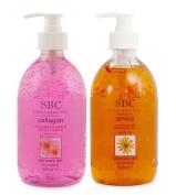 SBC Collagen Gel & Arnica Gel Bottles With Pump 500ml Duo