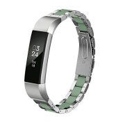 Fitbit Alta Bands Metal, Greeninsync Fitbit Alta HR Stainless Steel Bands Adjustable Replacement Accessory Wristband Small Large for Alta Bracelet Women Men Girls Boys [Special Edition]