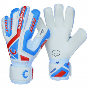 R-GK Talon Goalkeeper Gloves With Removable Pro Fingersaves - , Sizes 5-11, 3 Styles/Cuts (Negative, Roll, Flat) - 30 DAY 100% SATISFACTION GUARANTEE WARRANTY - Unisex, Adult, & Youth Soccer Goalies