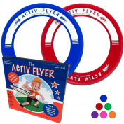 "Best Kid's Frisbee Rings [2 PACK] Fly Straight & Don't Hurt - 80% Lighter Than Standard Frisbees - Replace ""Screen Time"" with Healthy Family Fun Time - Get Outside & Play! - Made in USA"