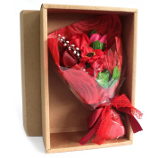 Red Boxed Hand Soap Flower Bouquet