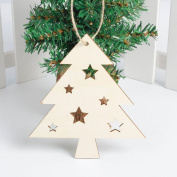 Inverlee Wood Embellishments Christmas Tree Hanging Ornament Decor