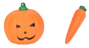 Yiphates Halloween Squeeze Squishy Carrot Pumpkin Slow Rising Toy Emoji Stress Stretch Collect Gift Bread Toy 5 PCS