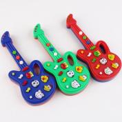 Qiyun Guitar Toy Children Electronic Piano Guitar Toy Cute Cartoon Animals Music Toy Intellectual Development Random Colour