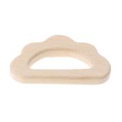 OTGO Baby Wooden Teething Relief Toy Baby Nursing Holder Teether,Cloud Shape