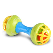 starxin Baby Musical Hand Shaking Rattle Toy Todder Educational Teether Dumbbell Toy