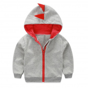 Exteren Infant Toddler Baby Boy Girl Dinosaur Pattern Hooded Zipper Tops Clothes Coat