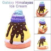 Maple_Leaf Galaxy Himalayas Ice Cream Scented Squishy Slow Rising Squeeze Strap Kids Toys